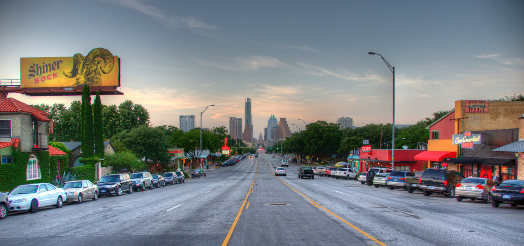 Travis Heights borders the SoCo area, which is home to some of the best shops and restaurants in Austin. Photo credit Flickr user Justin Jensen.