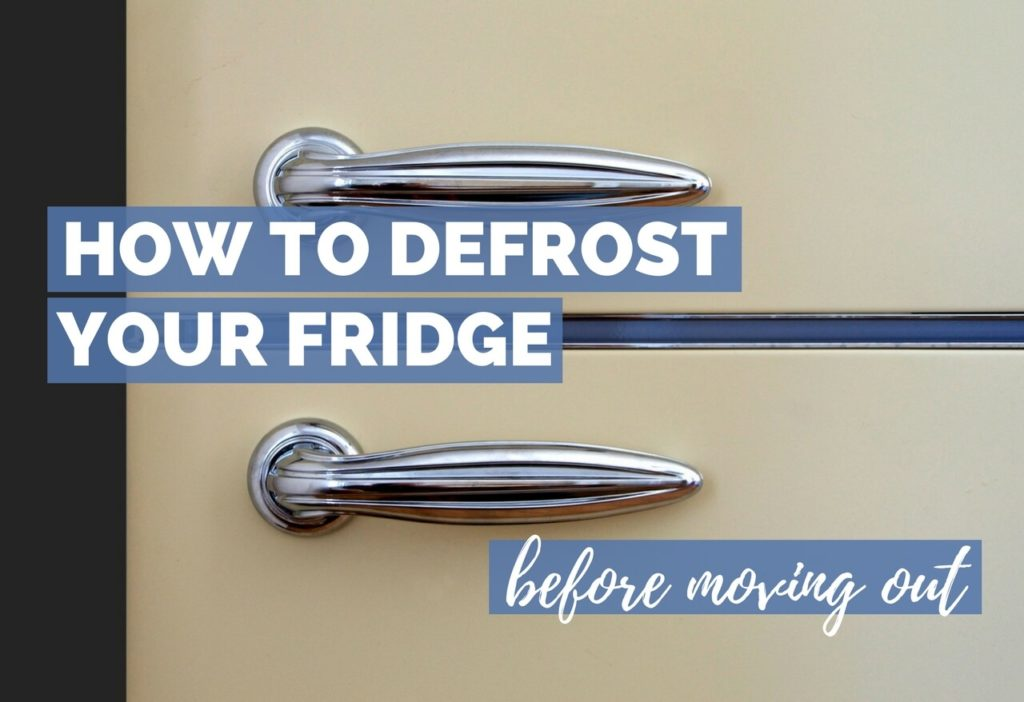 How To Defrost A Fridge Before Moving Out